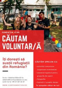 Fundația Icar caută Voluntar/ă