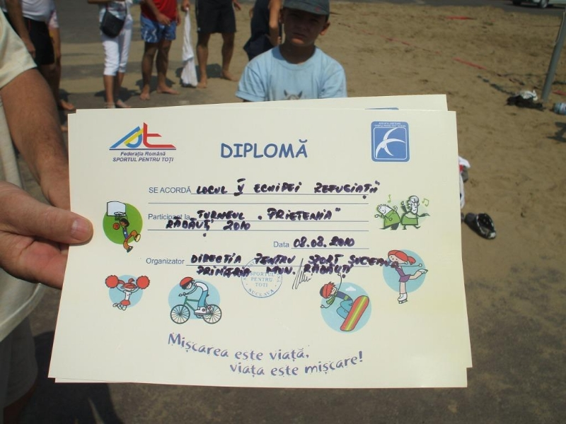 Local beach volley championship - diploma