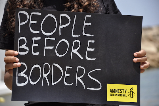 Pictures from the Human Rights Action Camp in Lampedusa from 20th - 27th July 2014. Action in Lampedusa on 25 July 2014: over 60 activists demand that EU leaders put people before borders!